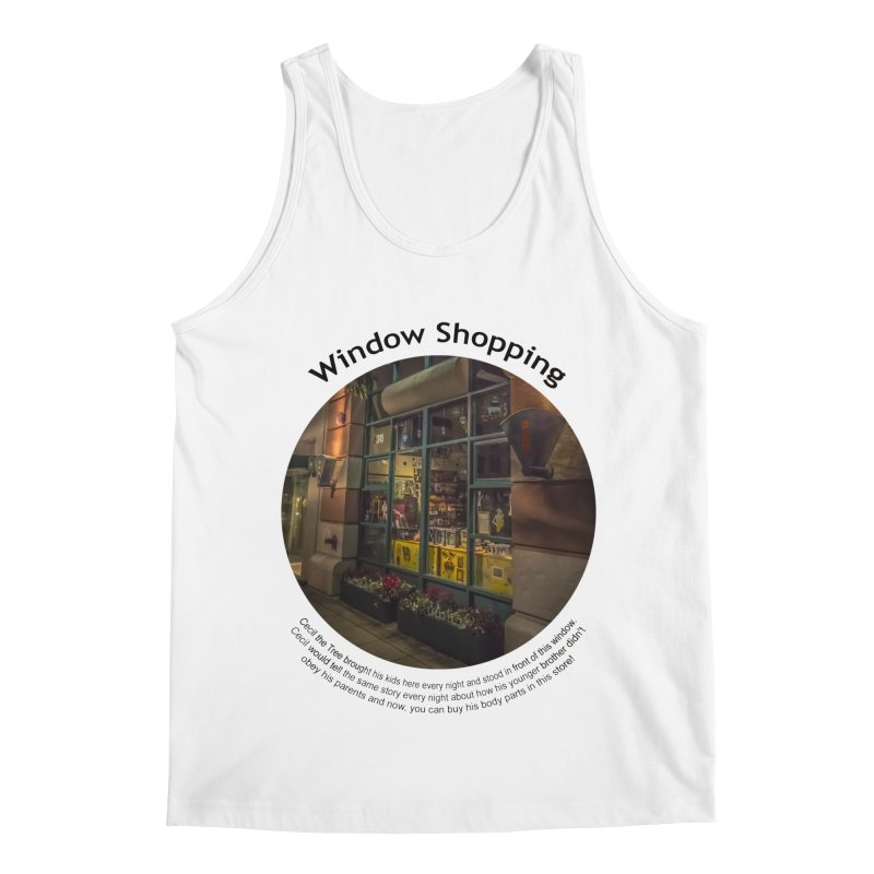 Window Shopping Men's Regular Tank by Hogwash's Artist Shop