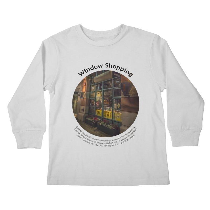 Window Shopping Kids Longsleeve T-Shirt by Hogwash's Artist Shop