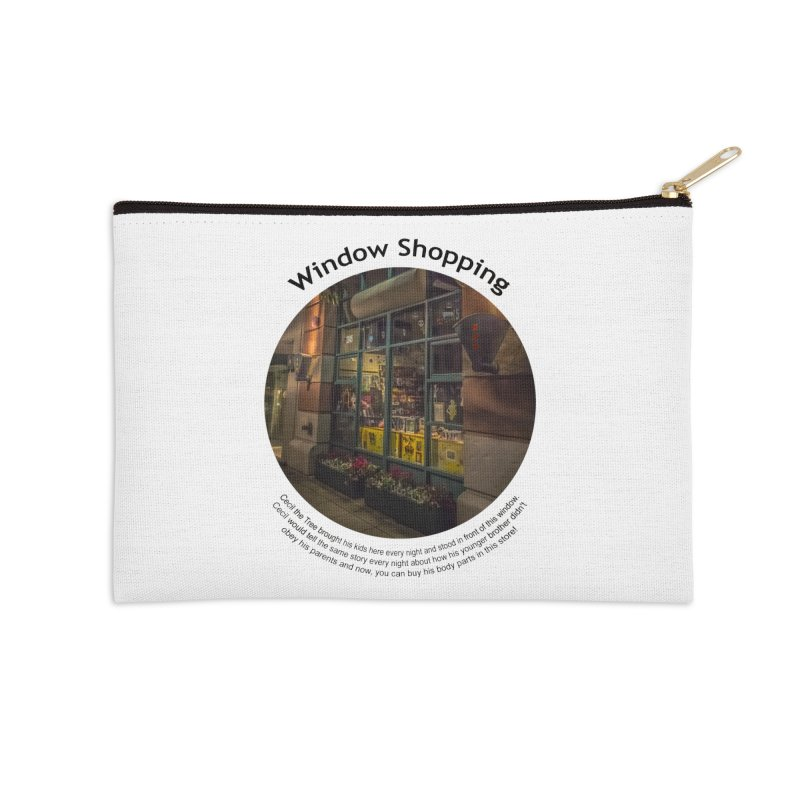 Window Shopping Accessories Zip Pouch by Hogwash's Artist Shop