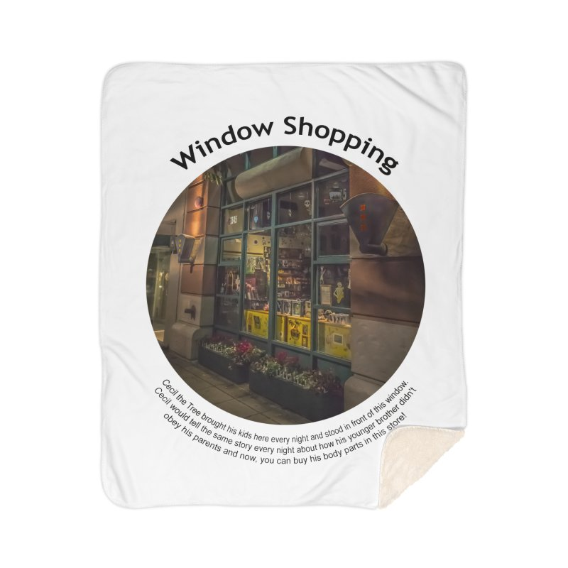 Window Shopping Home Blanket by Hogwash's Artist Shop
