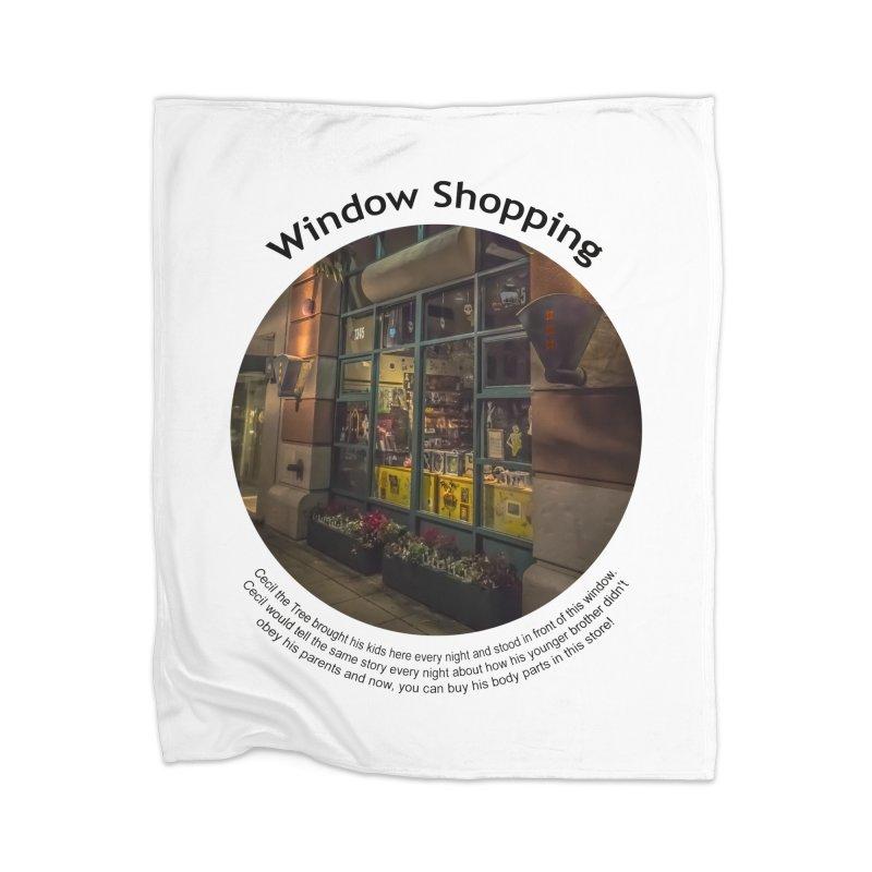 Window Shopping Home Blanket by Hogwash's Artist Shop