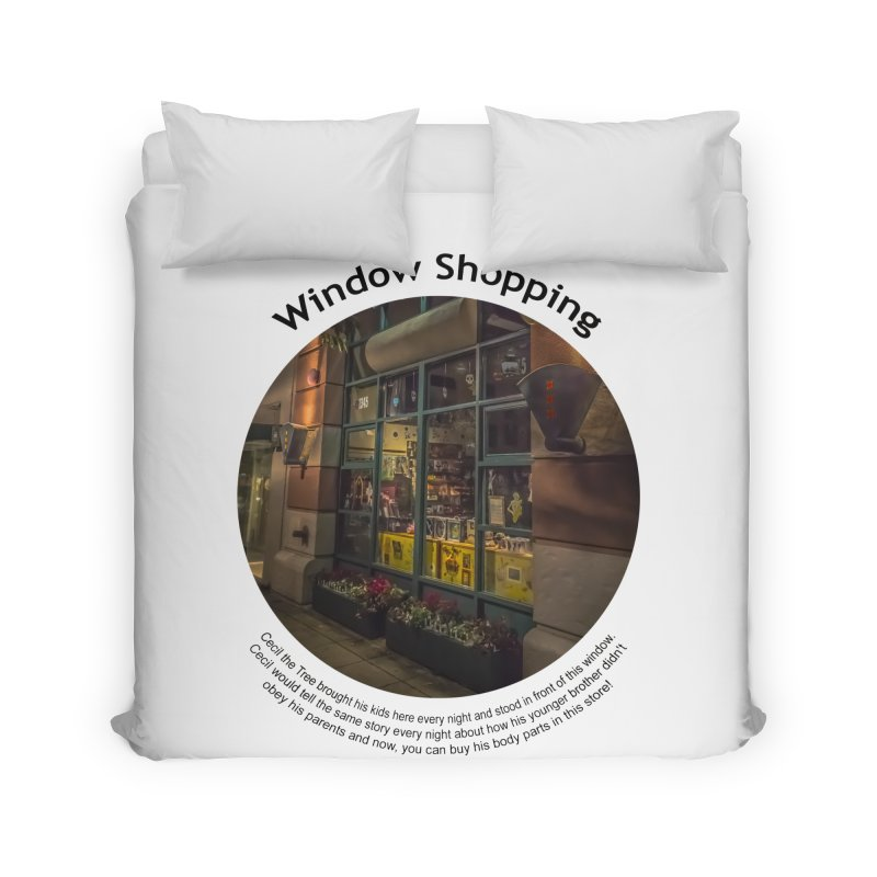 Window Shopping Home Duvet by Hogwash's Artist Shop