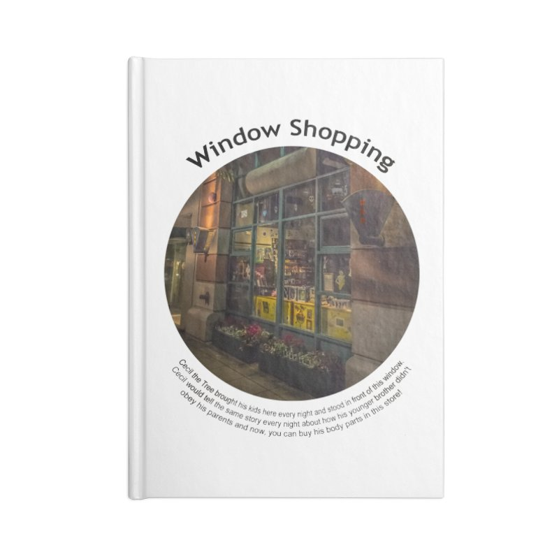 Window Shopping Accessories Notebook by Hogwash's Artist Shop