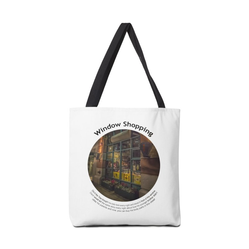 Window Shopping Accessories Tote Bag Bag by Hogwash's Artist Shop