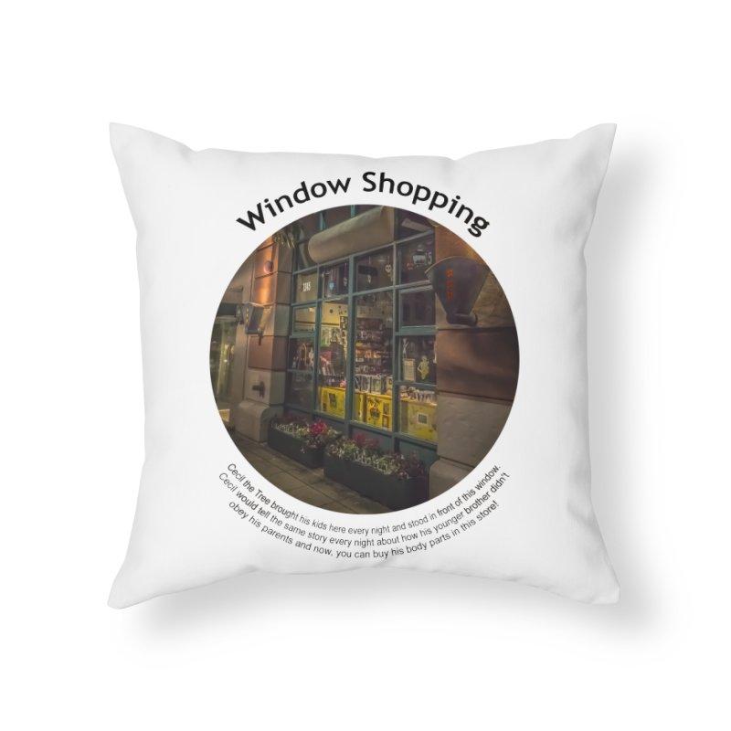 Window Shopping Home Throw Pillow by Hogwash's Artist Shop