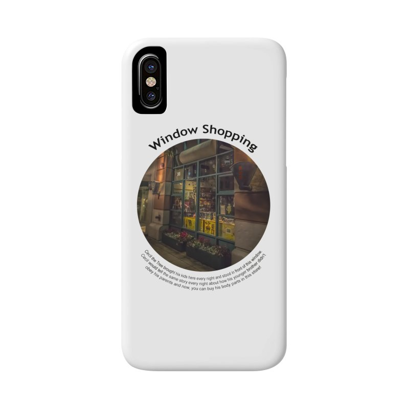 Window Shopping Accessories Phone Case by Hogwash's Artist Shop