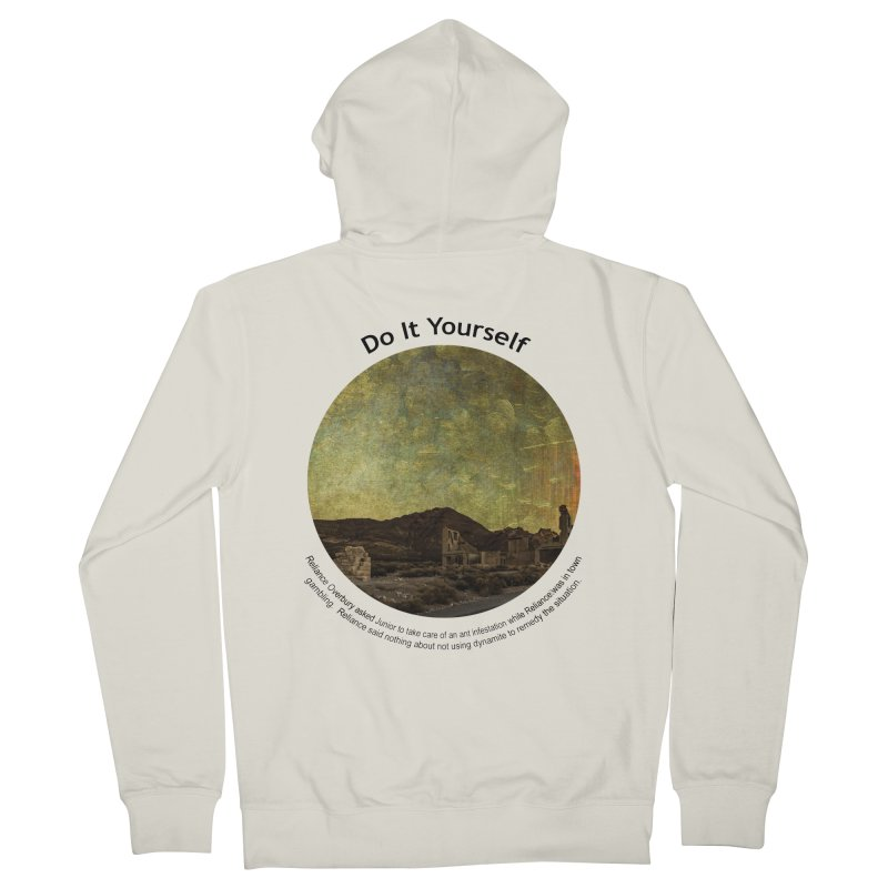 Do It Yourself Women's French Terry Zip-Up Hoody by Hogwash's Artist Shop