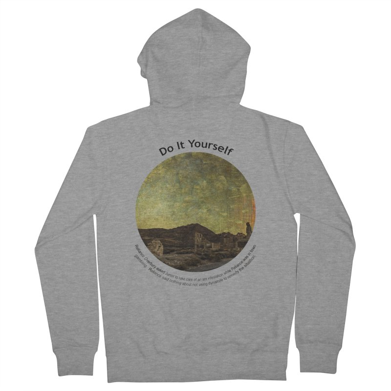 Do It Yourself Men's French Terry Zip-Up Hoody by Hogwash's Artist Shop