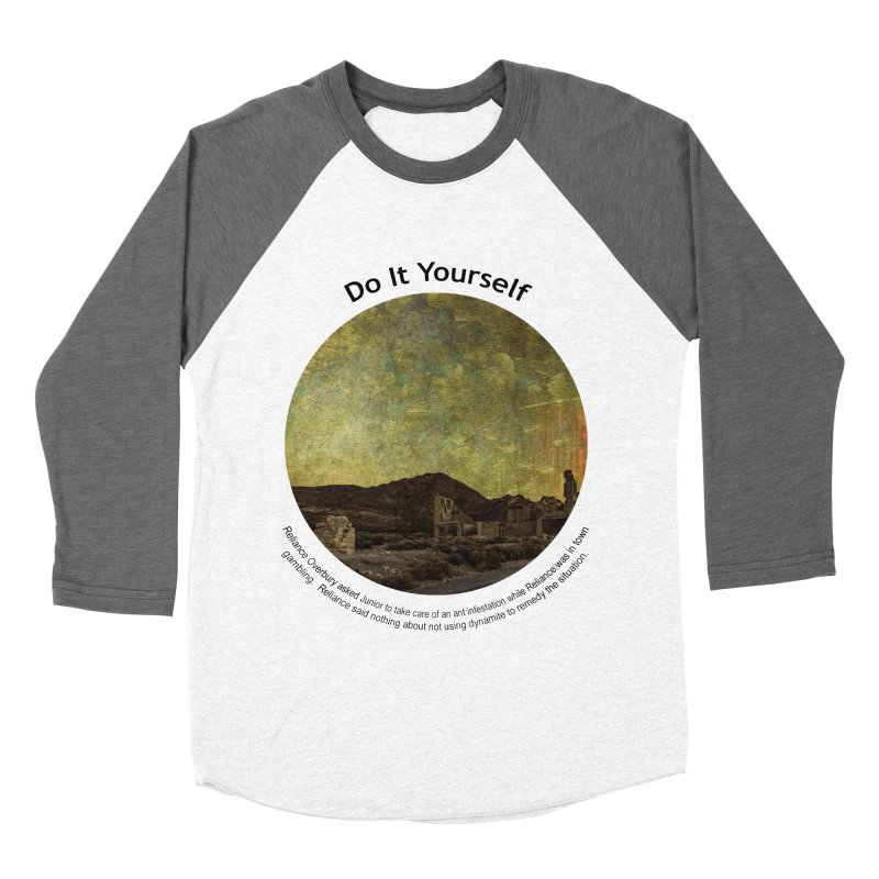 Do It Yourself Women's Baseball Triblend Longsleeve T-Shirt by Hogwash's Artist Shop