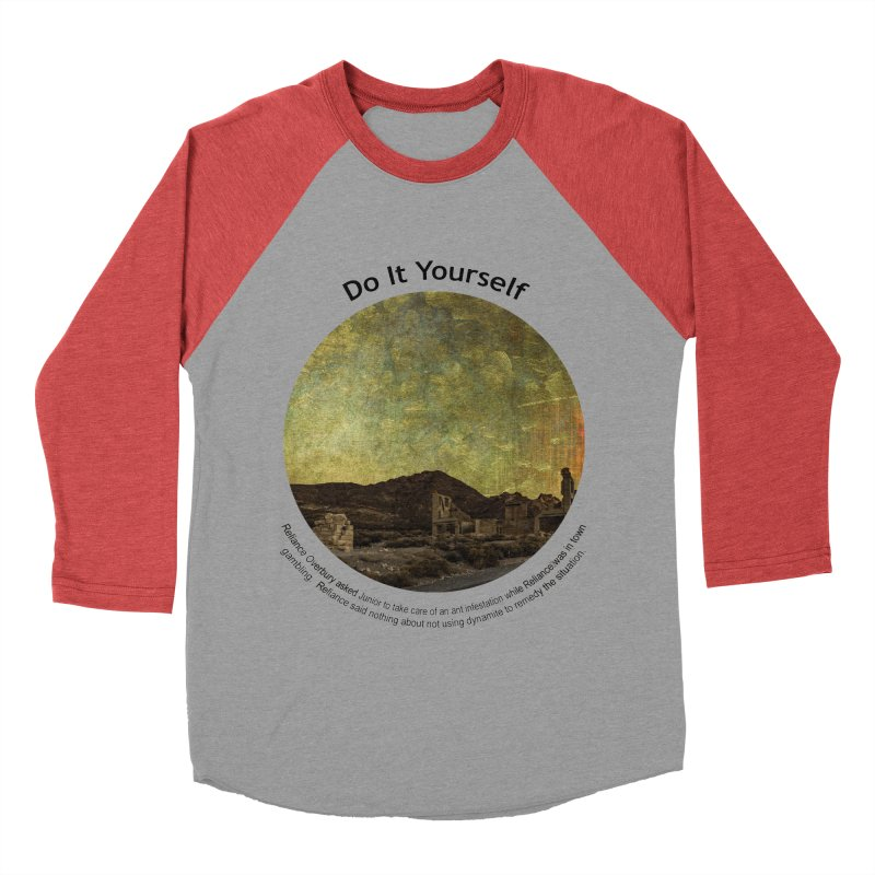 Do It Yourself Women's Baseball Triblend T-Shirt by Hogwash's Artist Shop