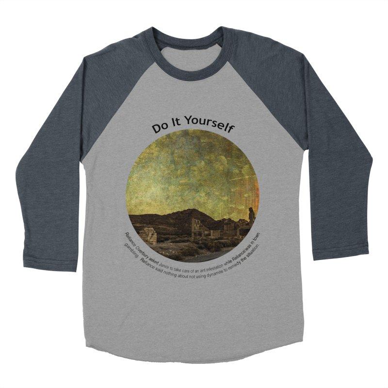 Do It Yourself Men's Baseball Triblend Longsleeve T-Shirt by Hogwash's Artist Shop