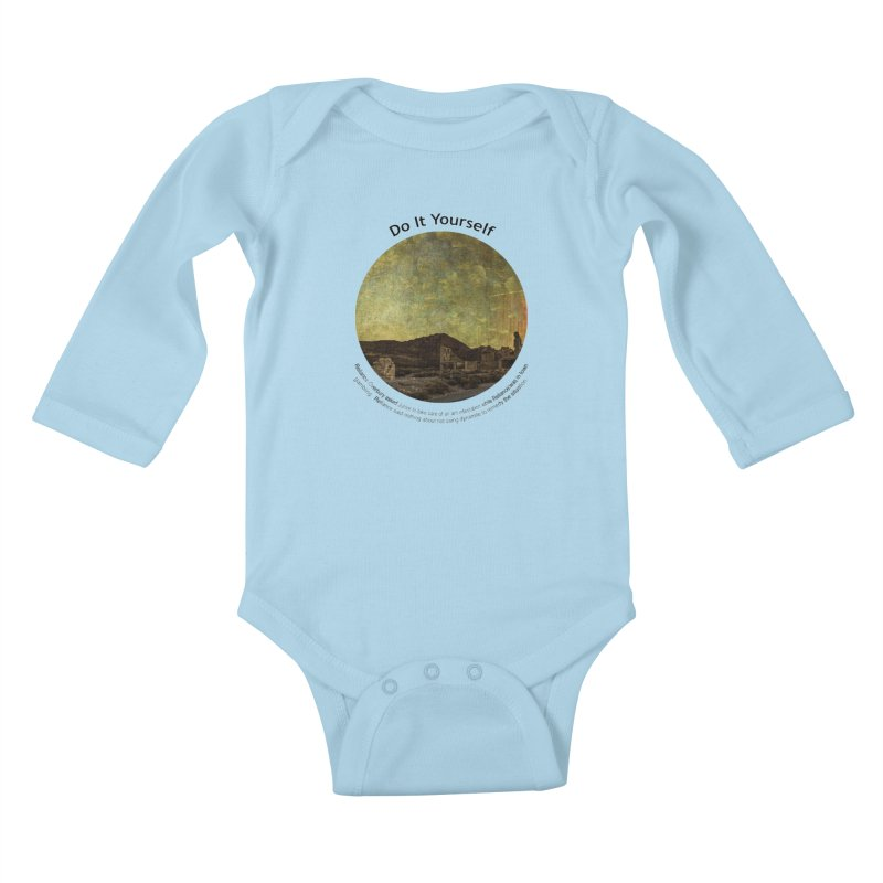 Do It Yourself Kids Baby Longsleeve Bodysuit by Hogwash's Artist Shop