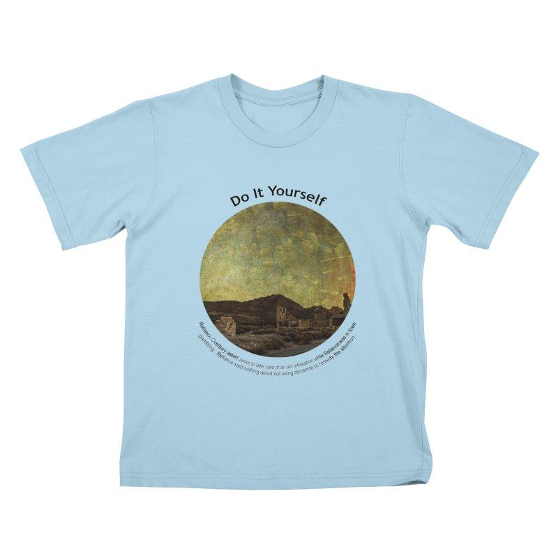 Do It Yourself Kids T-Shirt by Hogwash's Artist Shop