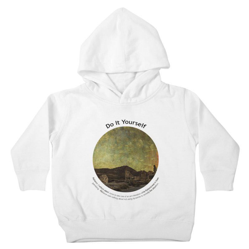 Do It Yourself Kids Toddler Pullover Hoody by Hogwash's Artist Shop