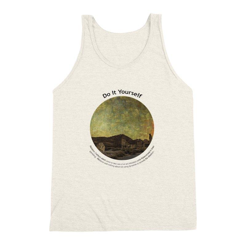 Do It Yourself Men's Triblend Tank by Hogwash's Artist Shop