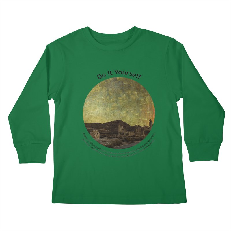 Do It Yourself Kids Longsleeve T-Shirt by Hogwash's Artist Shop
