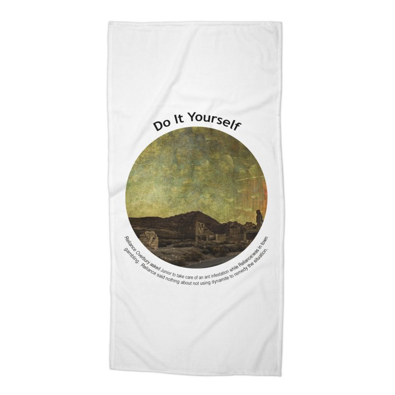 Do It Yourself Accessories Beach Towel by Hogwash's Artist Shop