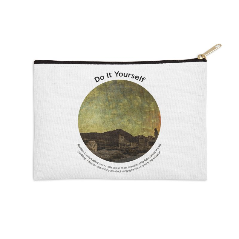 Do It Yourself Accessories Zip Pouch by Hogwash's Artist Shop