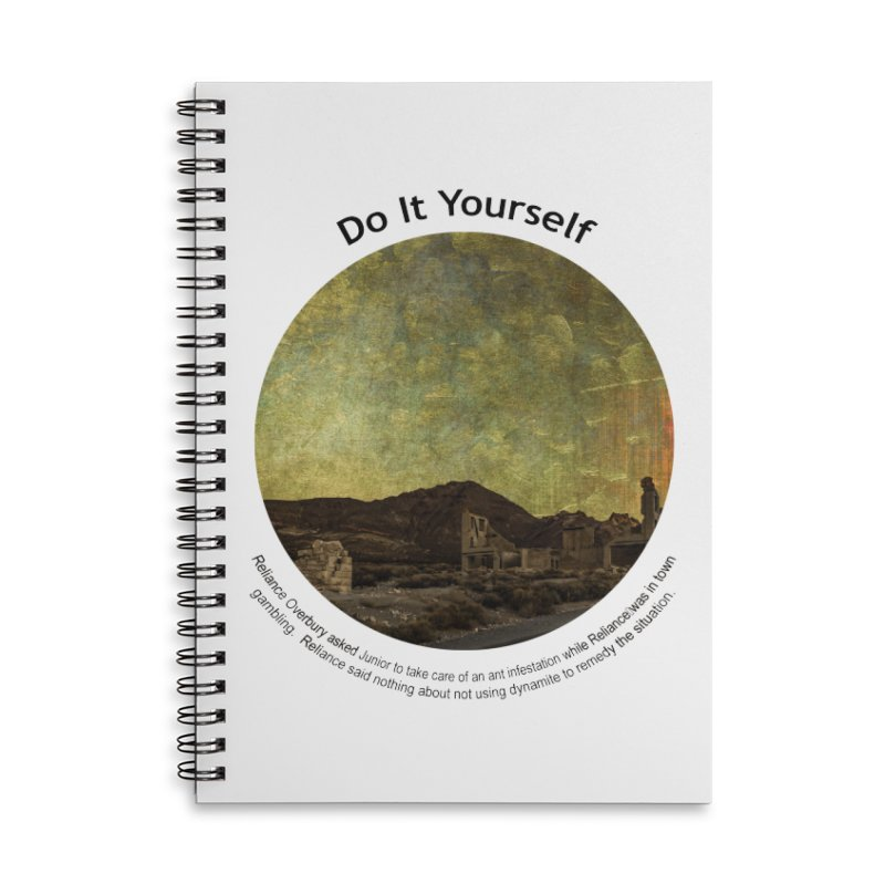Do It Yourself Accessories Lined Spiral Notebook by Hogwash's Artist Shop
