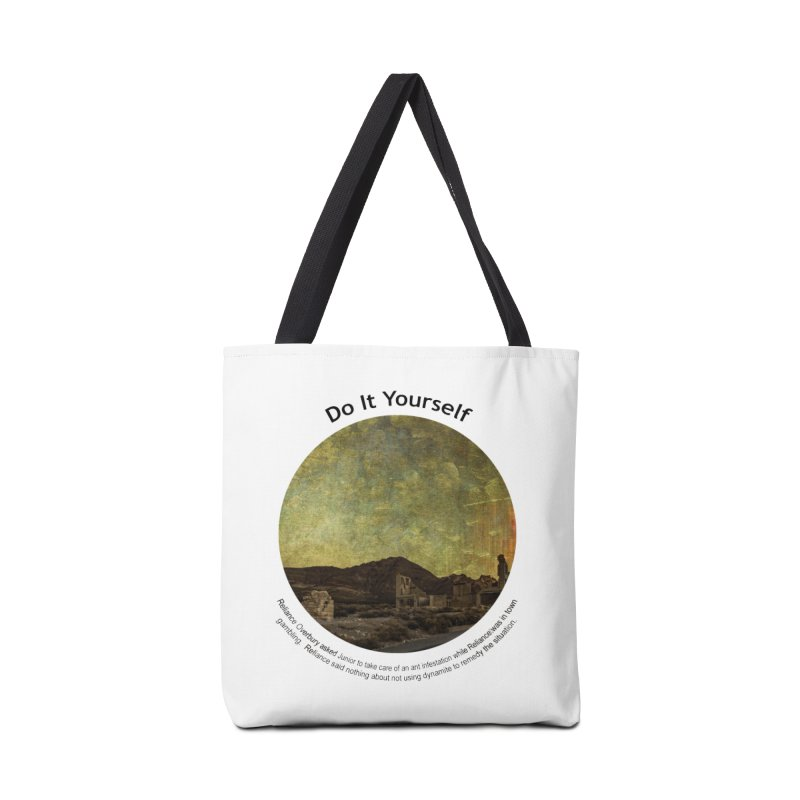 Do It Yourself Accessories Tote Bag Bag by Hogwash's Artist Shop