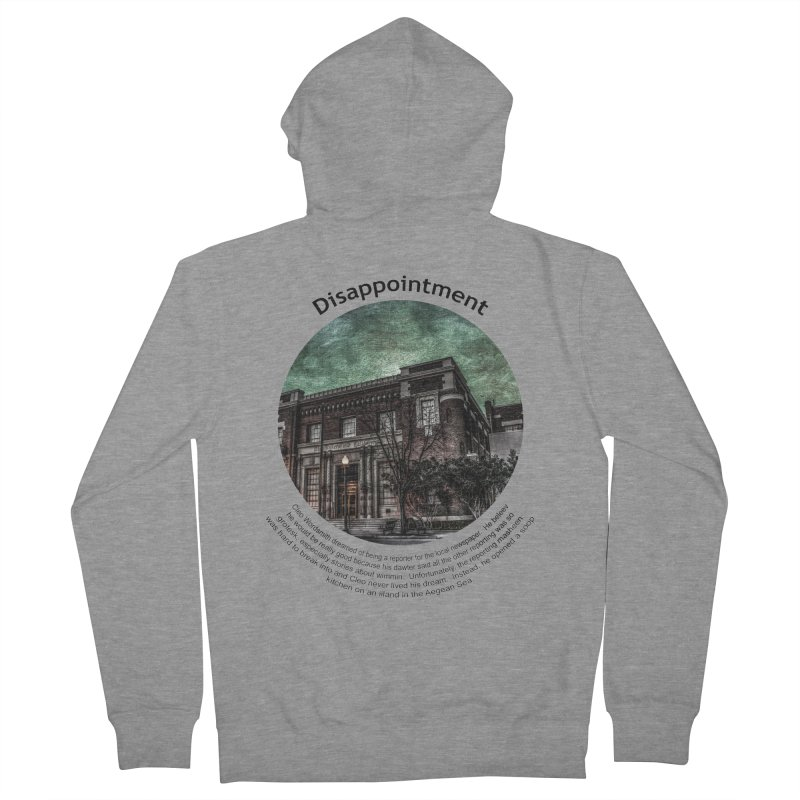 Disappointment Women's French Terry Zip-Up Hoody by Hogwash's Artist Shop