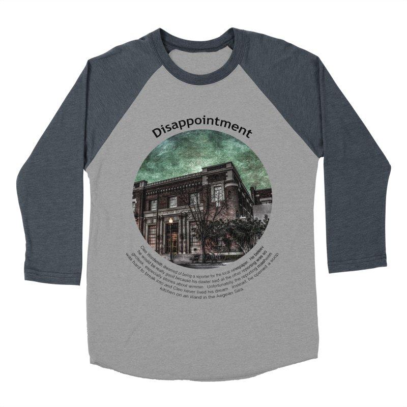 Disappointment Men's Baseball Triblend T-Shirt by Hogwash's Artist Shop