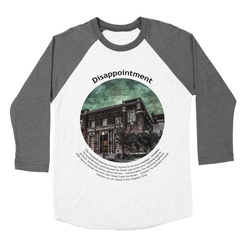 Disappointment Men's Baseball Triblend Longsleeve T-Shirt by Hogwash's Artist Shop
