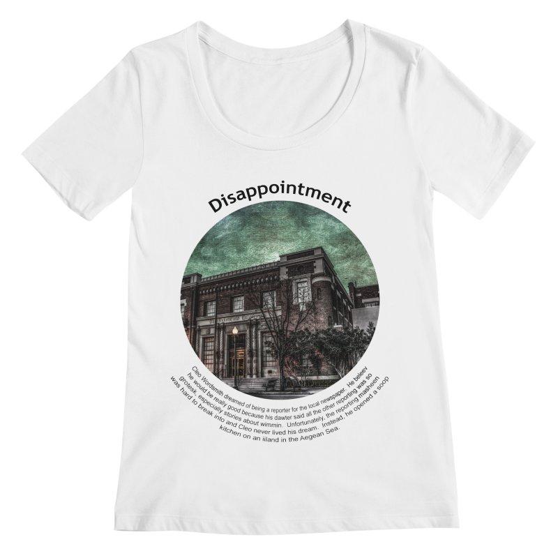 Disappointment Women's Scoopneck by Hogwash's Artist Shop