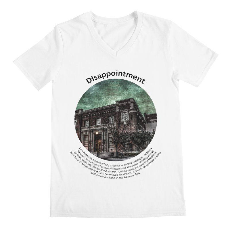 Disappointment Men's V-Neck by Hogwash's Artist Shop