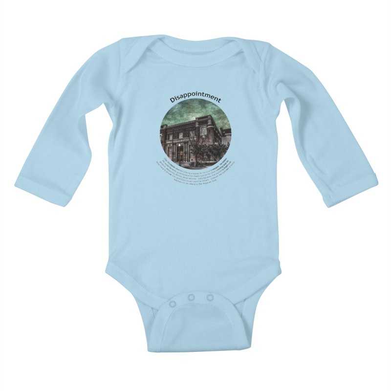 Disappointment Kids Baby Longsleeve Bodysuit by Hogwash's Artist Shop