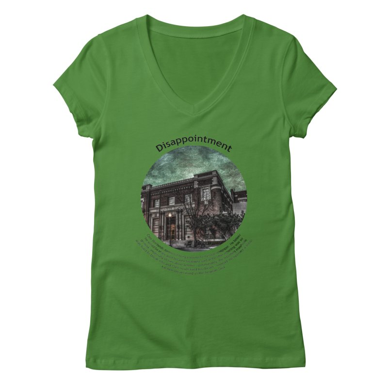 Disappointment Women's Regular V-Neck by Hogwash's Artist Shop