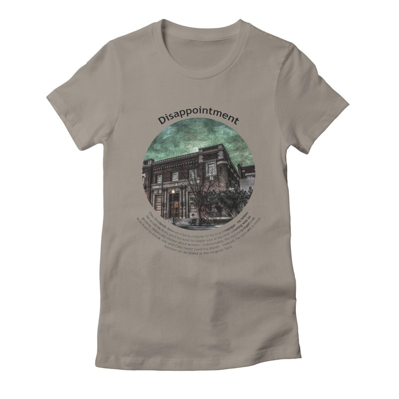Disappointment Women's Fitted T-Shirt by Hogwash's Artist Shop