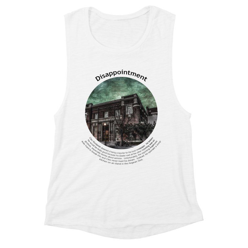 Disappointment Women's Muscle Tank by Hogwash's Artist Shop