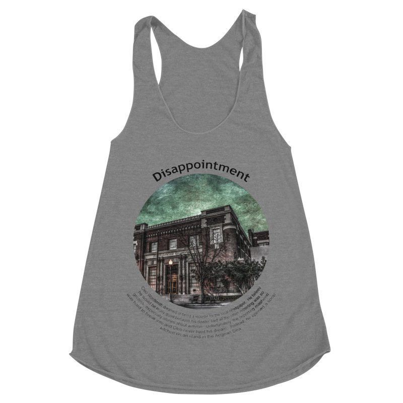 Disappointment Women's Racerback Triblend Tank by Hogwash's Artist Shop