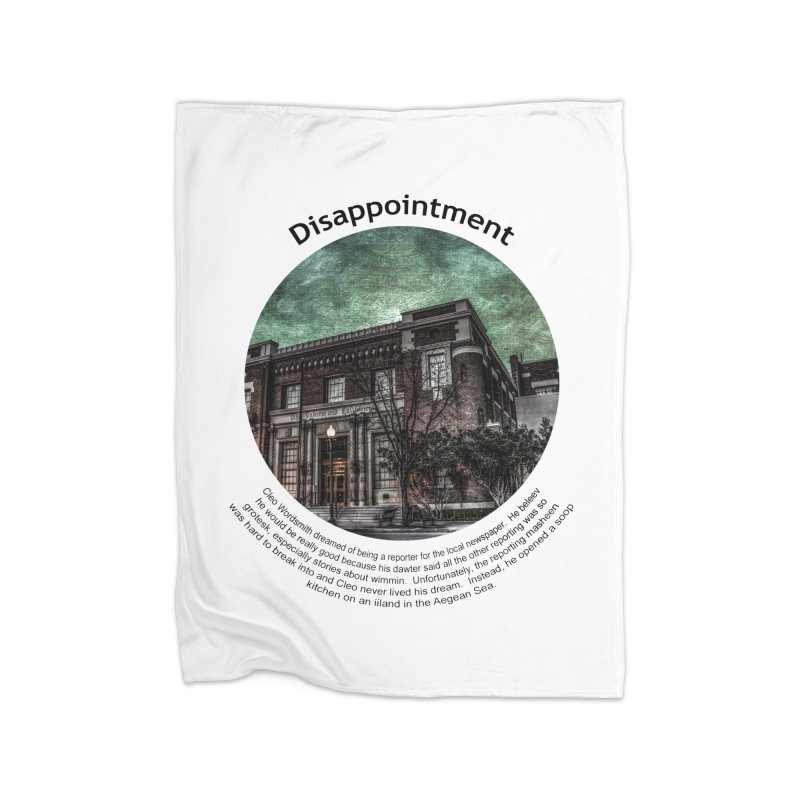 Disappointment Home Fleece Blanket Blanket by Hogwash's Artist Shop