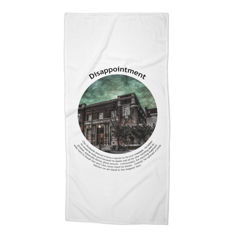 Disappointment Accessories Beach Towel by Hogwash's Artist Shop