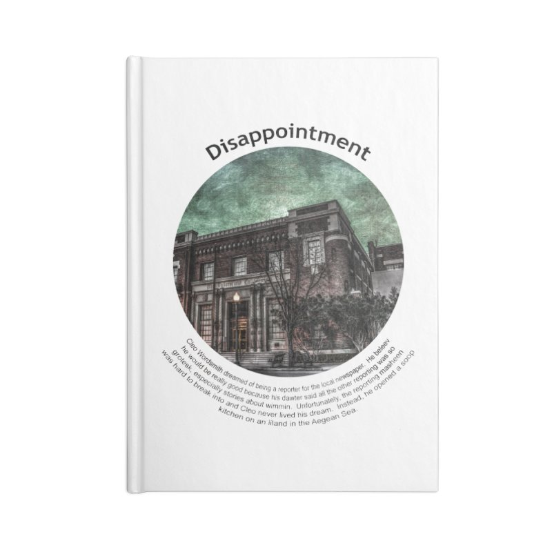 Disappointment Accessories Lined Journal Notebook by Hogwash's Artist Shop