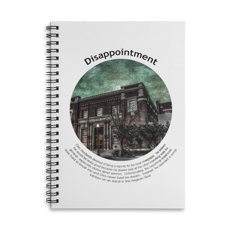Disappointment Accessories Lined Spiral Notebook by Hogwash's Artist Shop