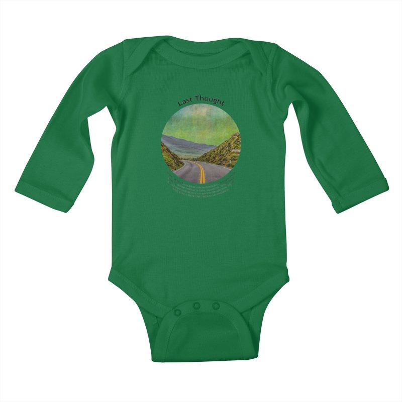 Last Thought Kids Baby Longsleeve Bodysuit by Hogwash's Artist Shop