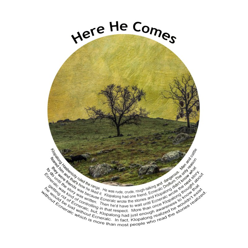Here He Comes Home Shower Curtain by Hogwash's Artist Shop