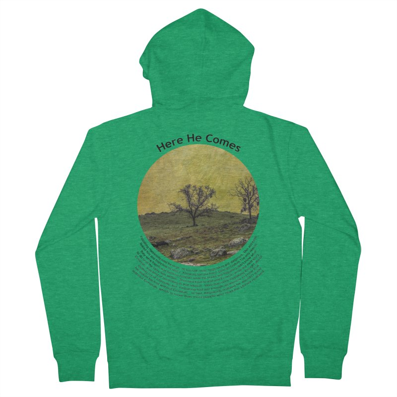 Here He Comes Men's Zip-Up Hoody by Hogwash's Artist Shop