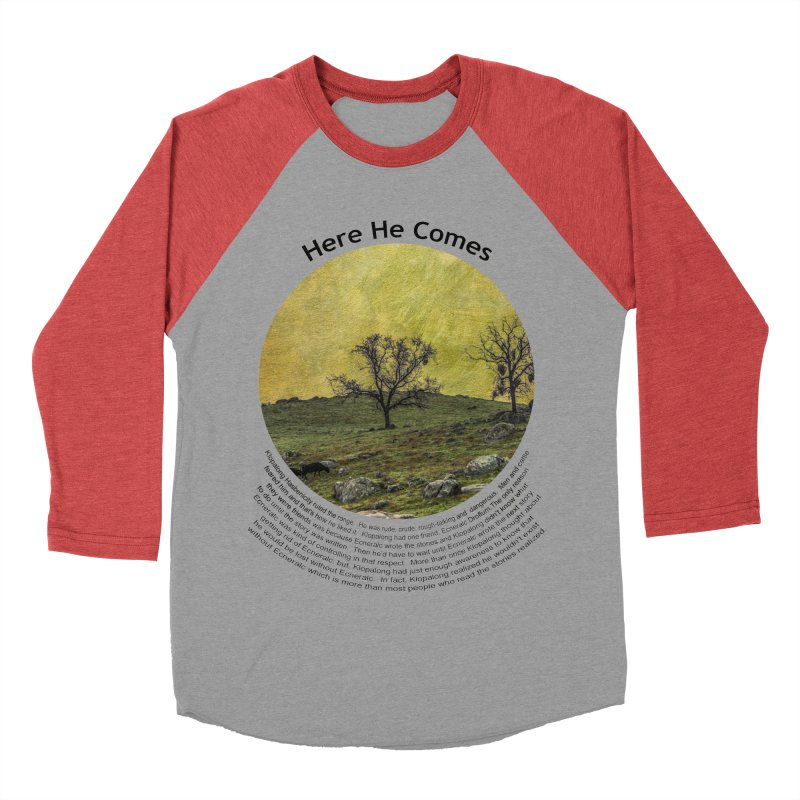 Here He Comes Women's Baseball Triblend Longsleeve T-Shirt by Hogwash's Artist Shop