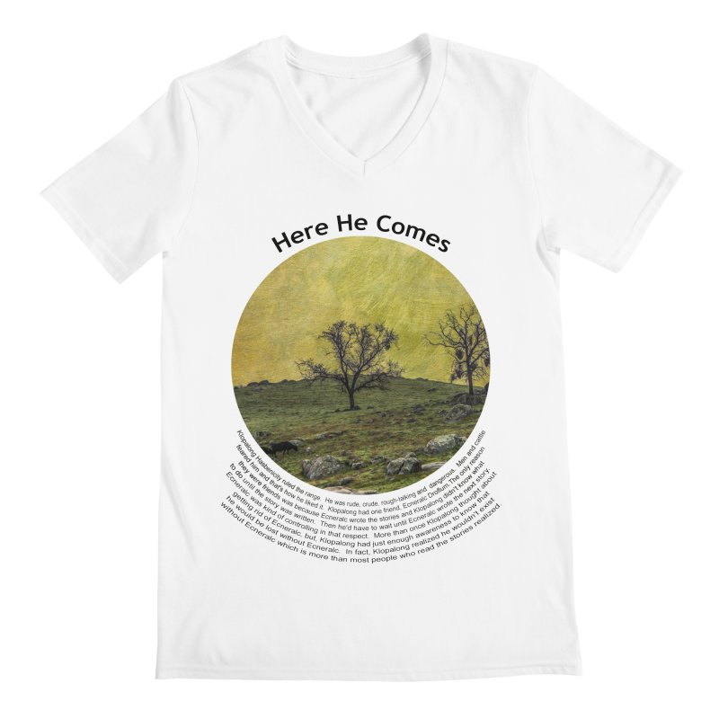 Here He Comes Men's V-Neck by Hogwash's Artist Shop
