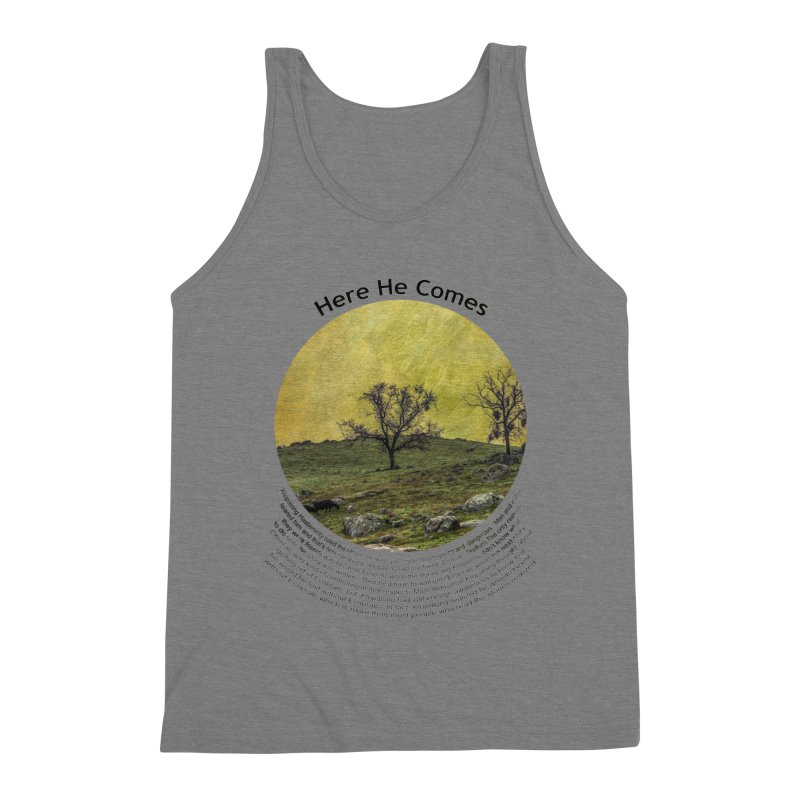 Here He Comes Men's Tank by Hogwash's Artist Shop
