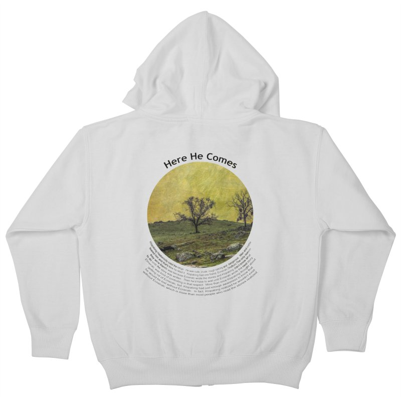 Here He Comes Kids Zip-Up Hoody by Hogwash's Artist Shop