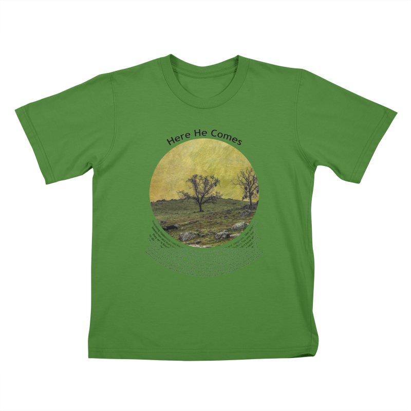 Here He Comes Kids T-Shirt by Hogwash's Artist Shop
