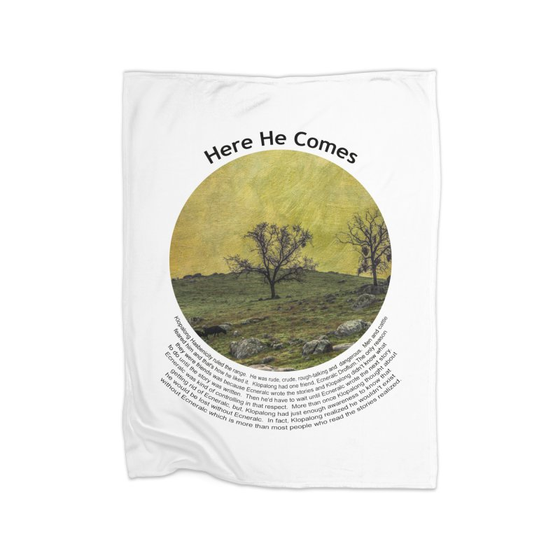 Here He Comes Home Fleece Blanket Blanket by Hogwash's Artist Shop