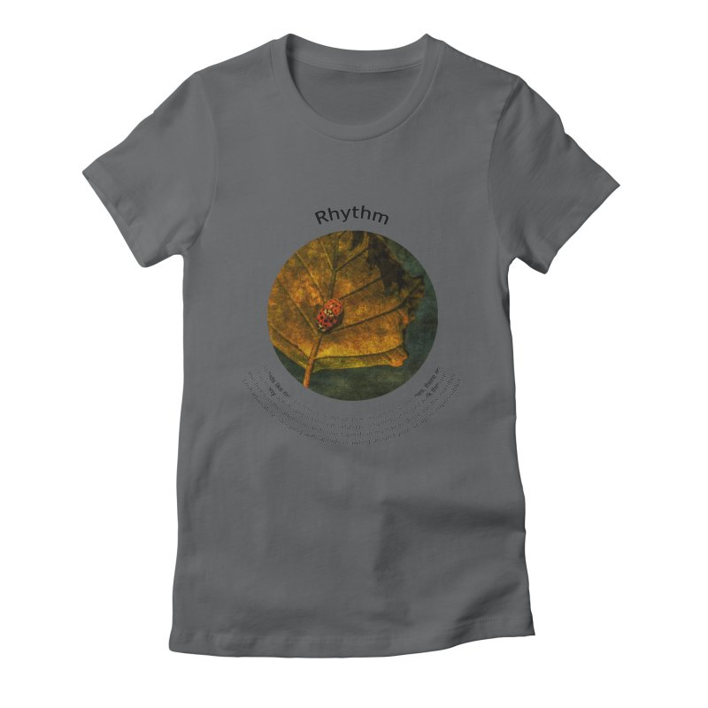 Rhythm Women's Fitted T-Shirt by Hogwash's Artist Shop
