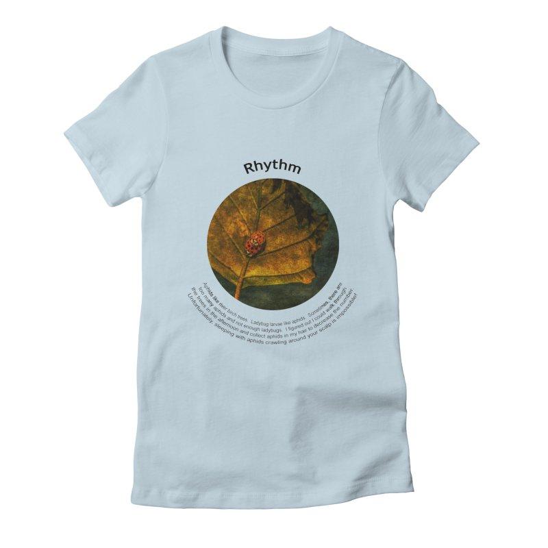 Rhythm Women's Fitted T-Shirt by Hogwash's Artist Shop