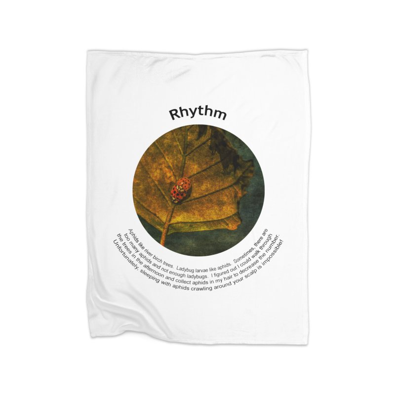 Rhythm Home Fleece Blanket Blanket by Hogwash's Artist Shop